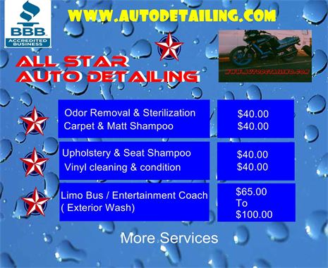 Autos,RV's,Motorcycles,Planes,Buses,Boats,Watercraft,Aircraft,Limos,Sterilization,Stain Removal